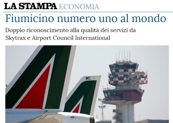 L'aeroporto romano di Fiumicino conquista nel 2018 i vertici delle classifiche internazionali del trasporto aereo