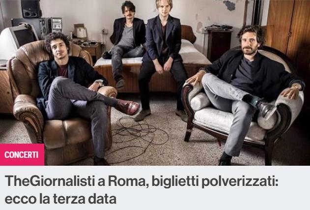 Concerti pop a Roma: la grande sorpresa della data triplicata del gruppo TheGiornalisti e Malika Ayane