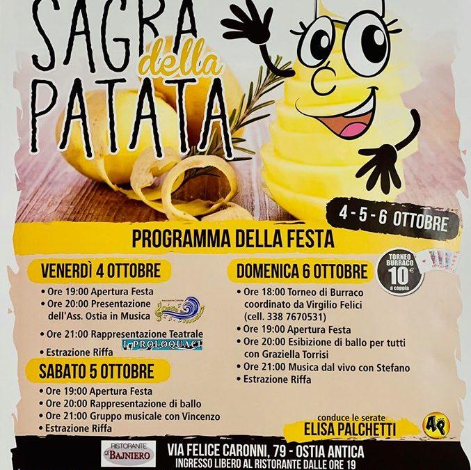 Roma Ostia Antica: volete andare alla Sagra della patata?