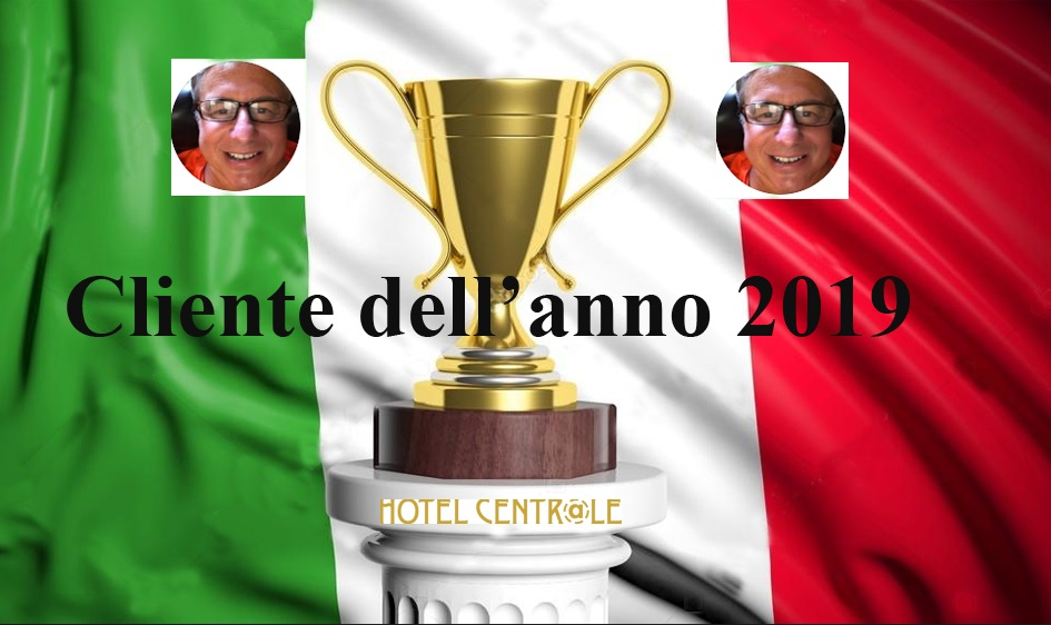 """Hotel Central Roma ha il suo """"Cliente dell'Anno"""""""