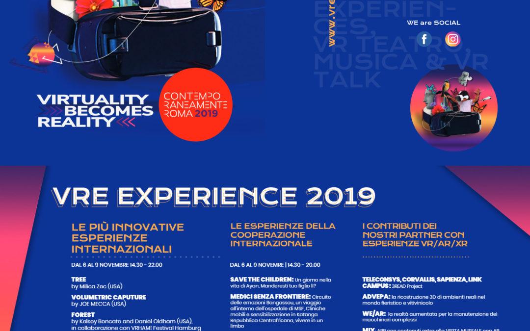 Roma al centro della realtà virtuale con VRE, il Festival di realtà virtuale